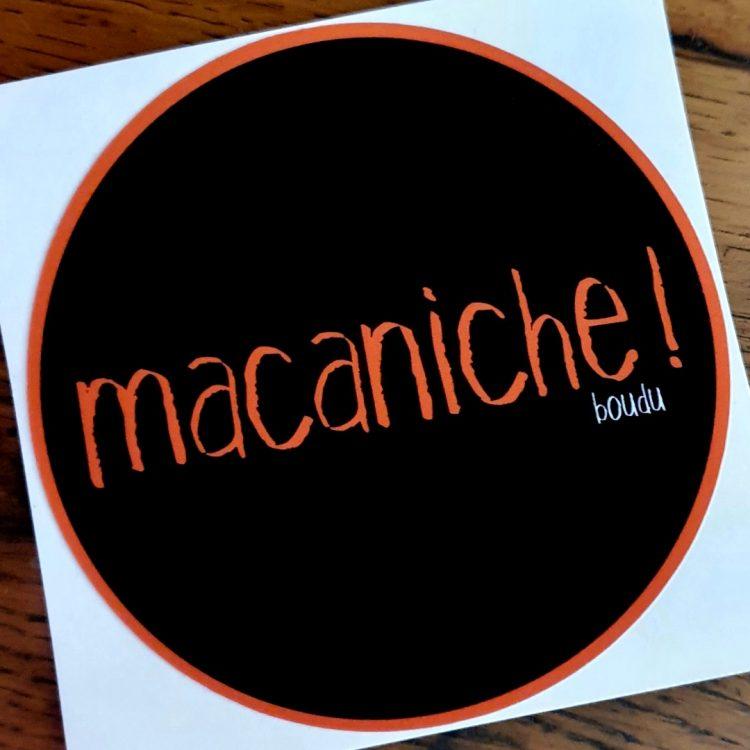 sticker autocollant boudu macaniche