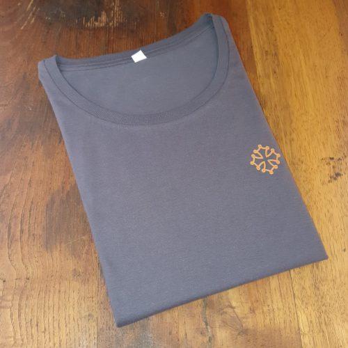 t-shirt boudu femme gris croix occitane