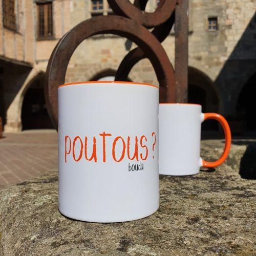 """Tasse boudu bicolore """"poutous"""""""