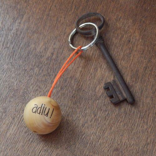 """Porte-clés boudu cochonnet """"adiu !"""""""