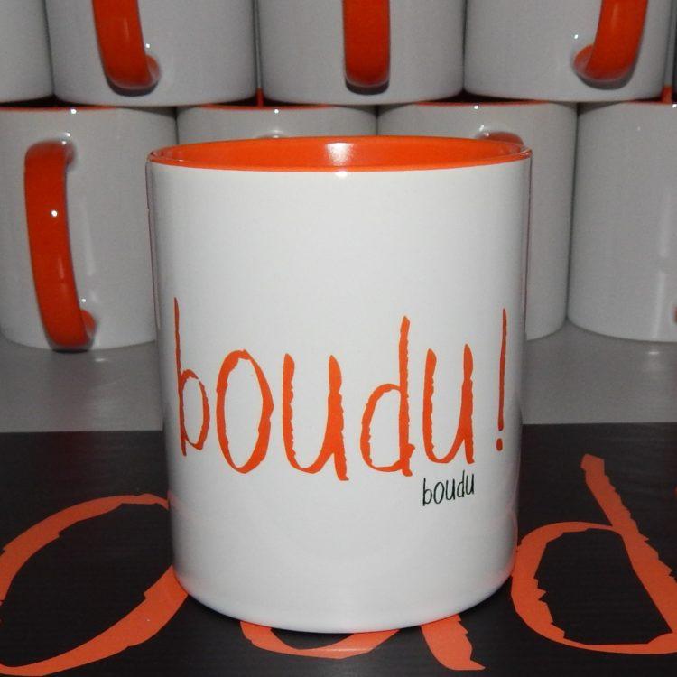 "Tasse boudu bicolore ""boudu !"""