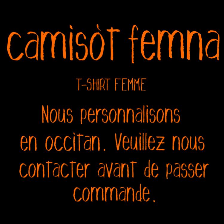 "t-shirt boudu femna ""camisot femna"""