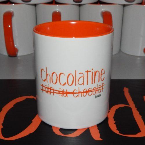 """Tasse boudu bicolore """"Chocolatine"""""""