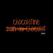 "Visuel boudu ""chocolatine - pain au chocolat"""