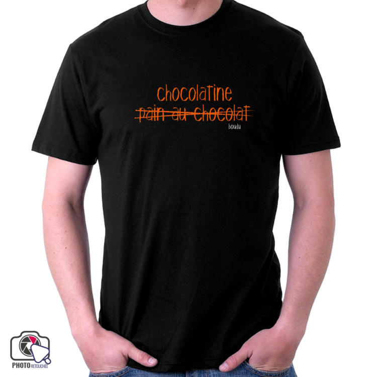 "t-shirt homme ""chocolatine pain au chocolat"""