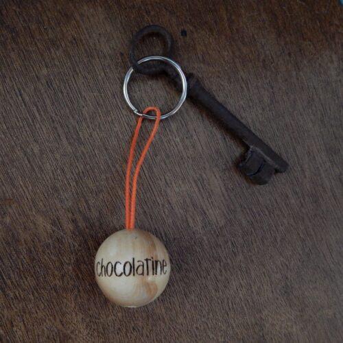 """Porte-clés boudu cochonnet """"chocolatine"""""""