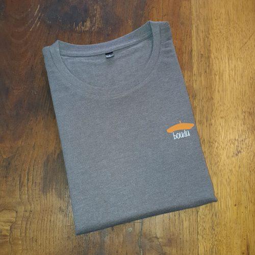 t-shirt gris boudu