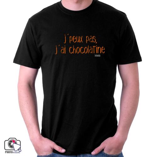 """t-shirt boudu homme """"j'peux pas j'ai chocolatine"""""""