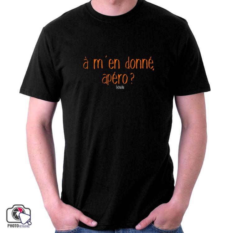 """T-shirt boudu Homme """"à m'en donné apéro ?"""""""