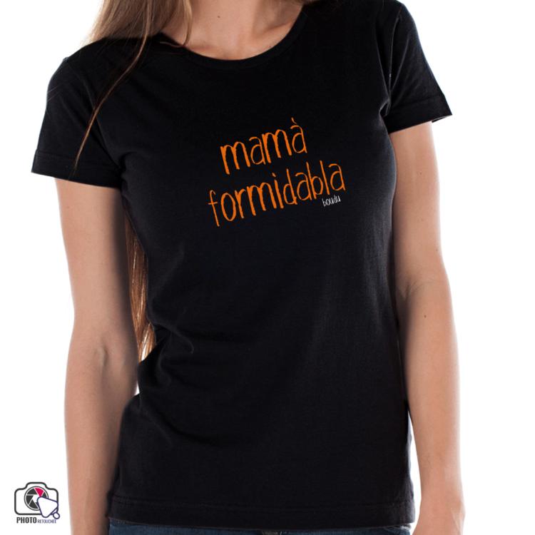 "t-shirt femme boudu ""mama formidable"""