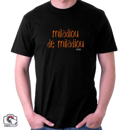"T-shirt boudu Homme ""miladiou de miladiou"""