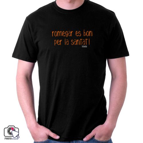 """T-shirt boudu Homme """"romegar es bon per la santat"""""""