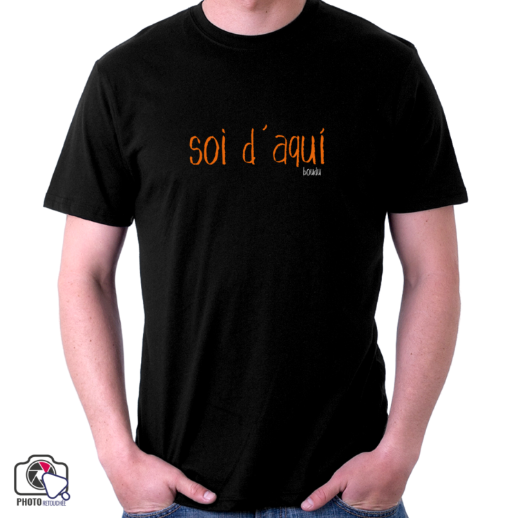 """t-shirt homme boudu """"soi d'aqui"""""""