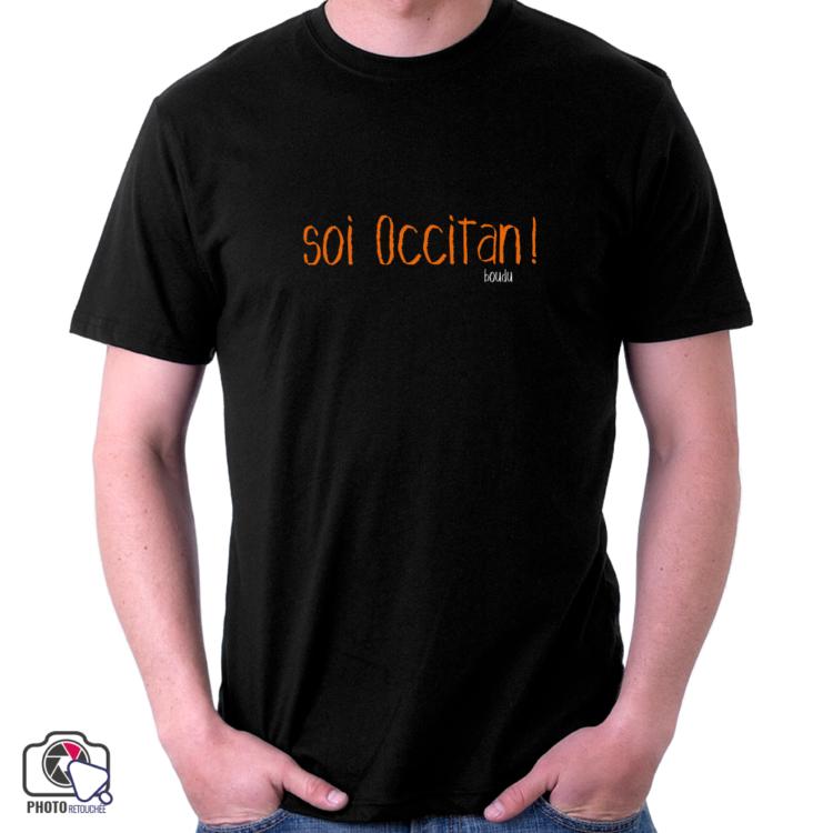 """T-shirt boudu Homme """"je suis occitan"""""""