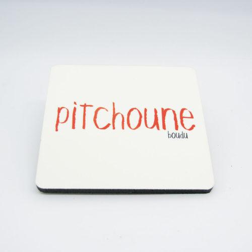 """Sous-verre bois/liège carré """"pitchoune"""""""